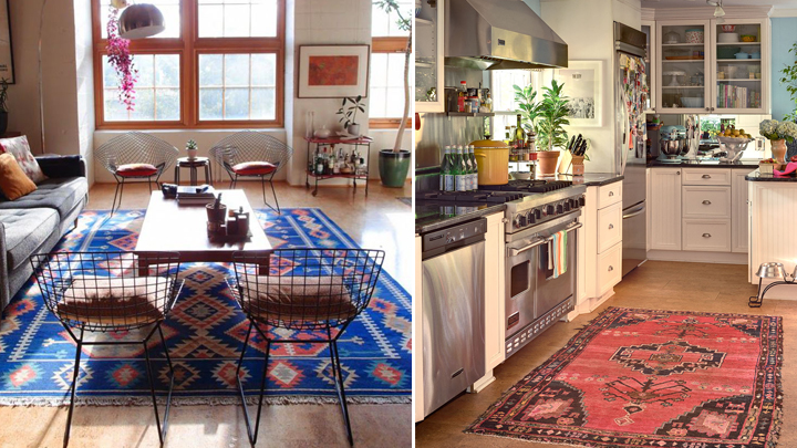 ideas para decorar con kilims