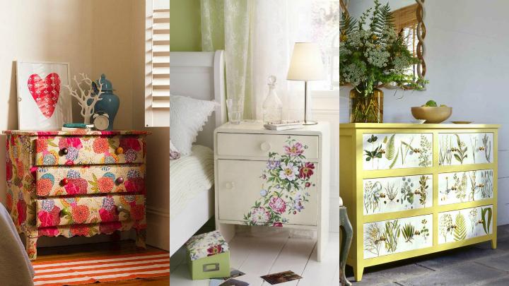 Dale un giro a tus muebles con el decoupage for Decoupage con servilletas en muebles