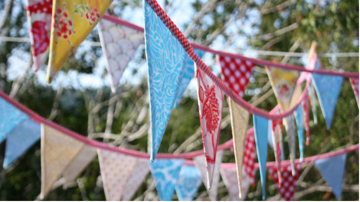 C mo hacer banderines decorativos - Banderines decorativos de tela ...