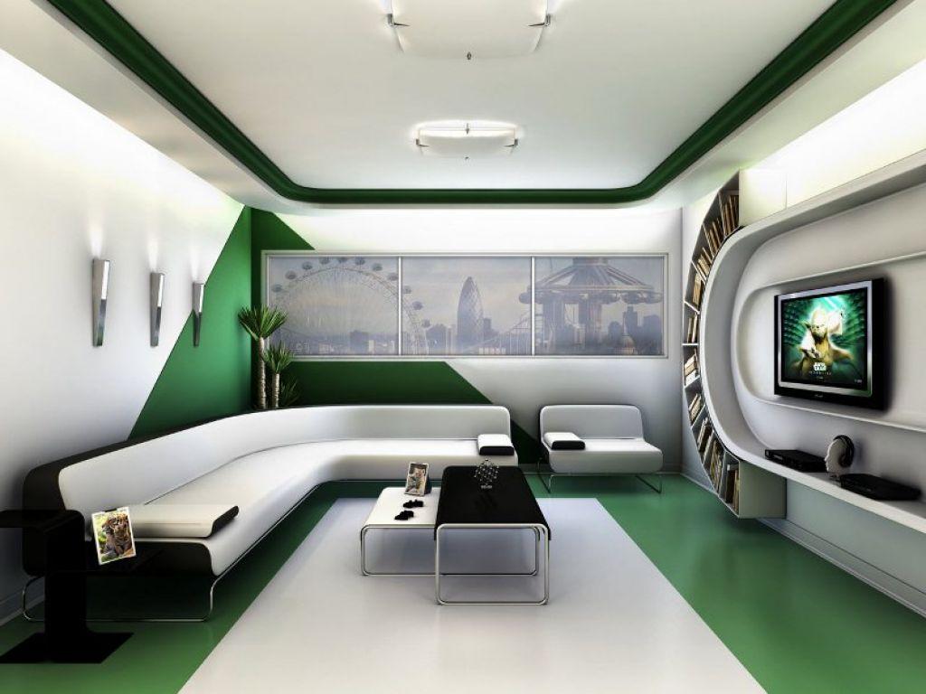 Decoracion estilo futurista 20 for Sala de estar futurista