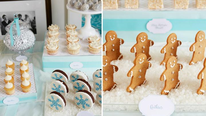 decoracion fiesta invierno galletas