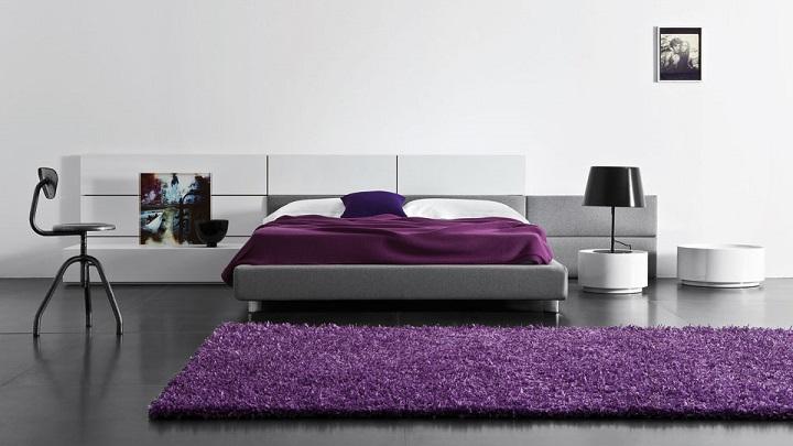 dormitorio morado foto