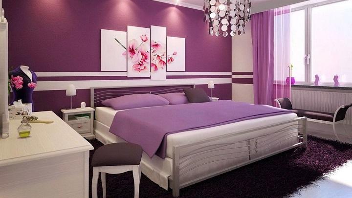 Dormitorios modernos color lila – dabcre.com