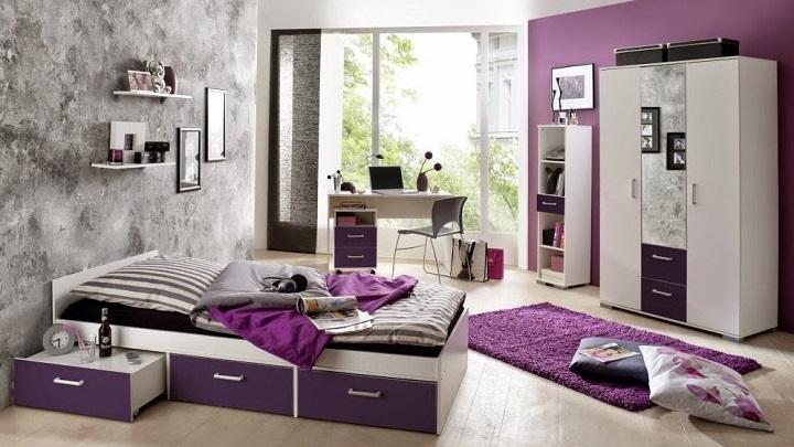 Fotos de dormitorios de color morado y violeta - Dormitorio malva ...