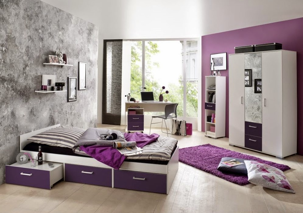 Dormitorio morado10 for Cuarto color