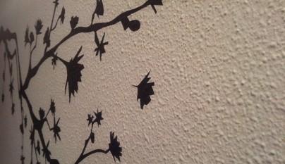 C mo eliminar el gotel for Vinilos pared gotele