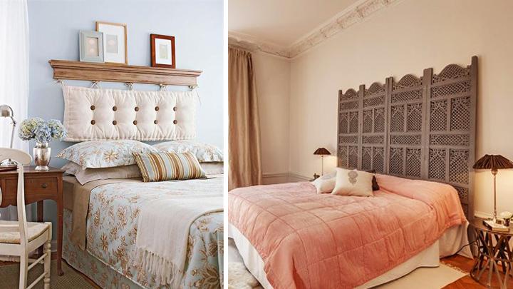 Ideas para un cabecero de cama original - Como colocar cojines en la cama ...