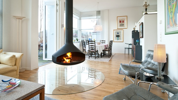 C mo decorar un sal n con chimenea - Ideas para decorar un salon moderno ...