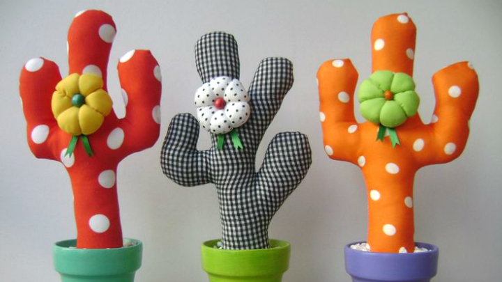 Cactus de tela decoracion3