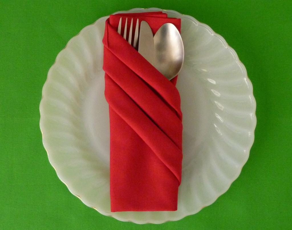 doblar servilletas en navidad