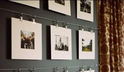 Ideas para decorar con fotos sin marco - Colgar espejo pared sin marco ...
