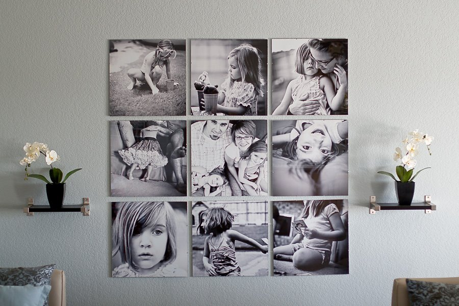 Ideas para decorar con fotos sin marco
