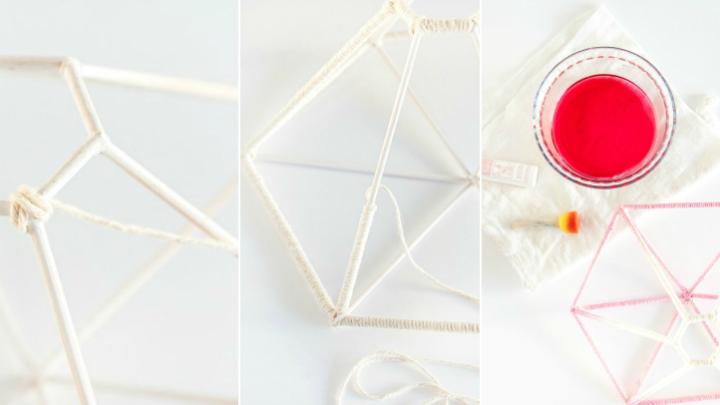 Lampara geometrica DIY1