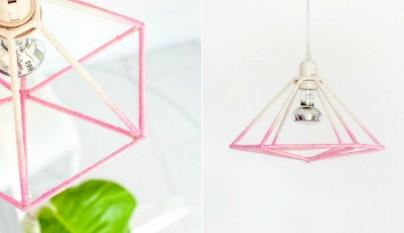 Lampara geometrica DIY2