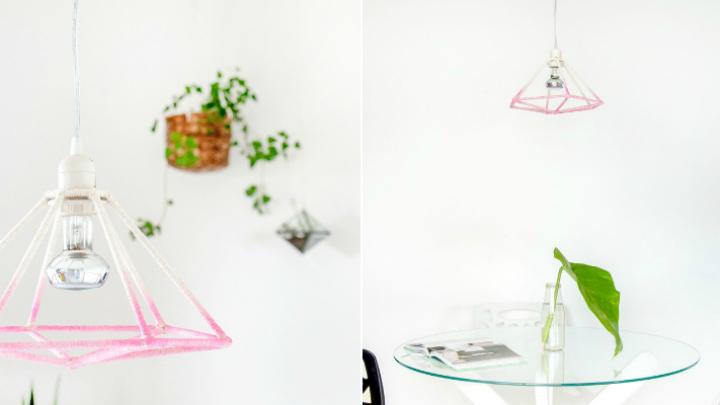 Lampara geometrica DIY3