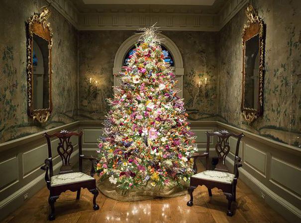 arboles de Navidad con flores 5