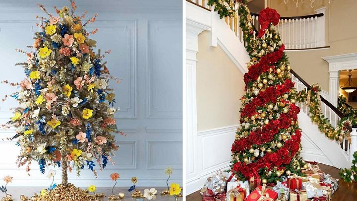 Rboles de navidad decorados con flores - Como adornar arbol de navidad ...