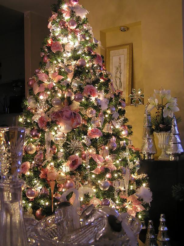 arboles de Navidad con flores 9