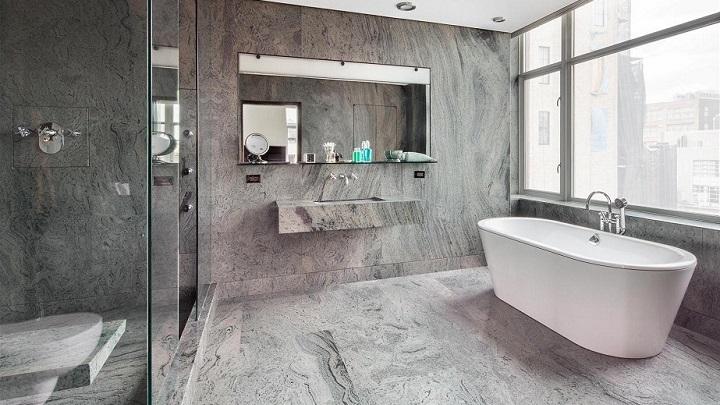 Azulejos Baño Grises:bano gris foto