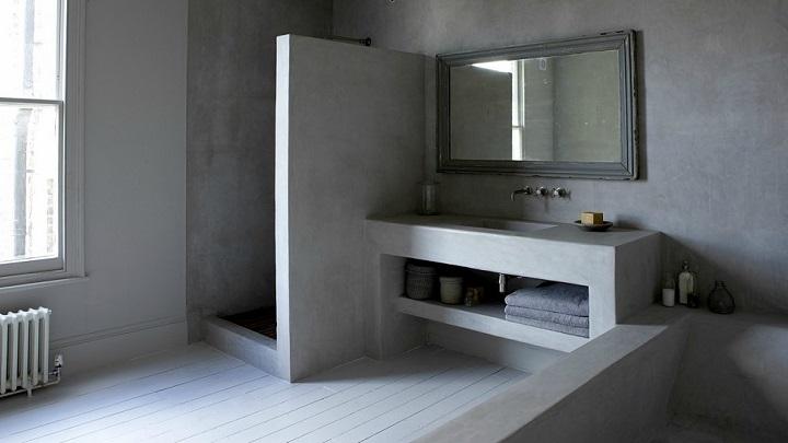 Cuartos de baño en gris