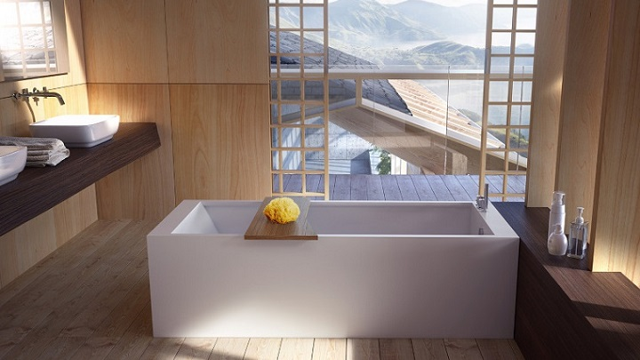 Baño Blanco Con Madera:Japanese Interior Design Bathroom