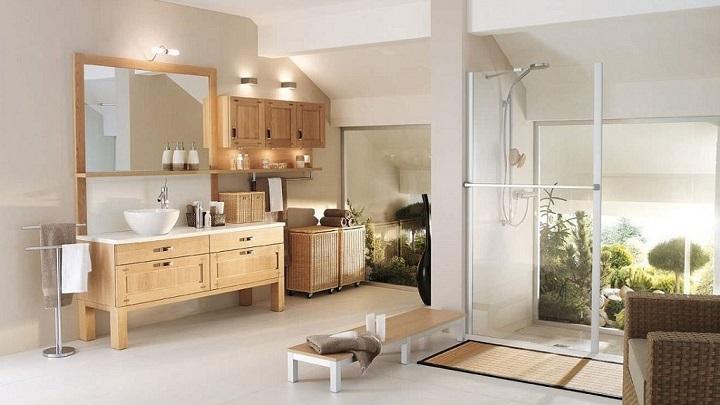 Baño Blanco Con Madera:blanco y madera bano2