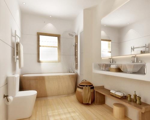 Blanco y madera21 - Adornos para cuarto de bano ...