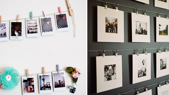 Ideas para decorar con fotos sin marco - Marcos de fotos para colgar ...