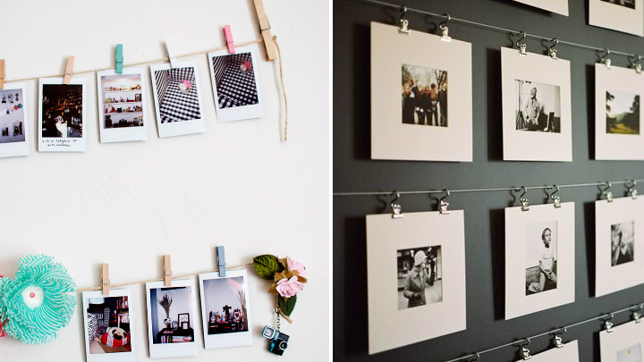 Ideas para decorar con fotos sin marco for Como colgar un cuadro