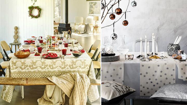 decoracion mesas navidad textiles