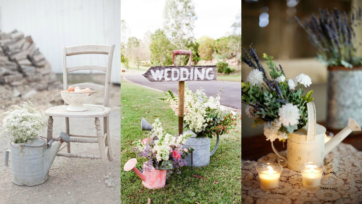 decorar regaderas boda