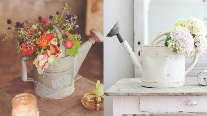 decorar regaderas jarron