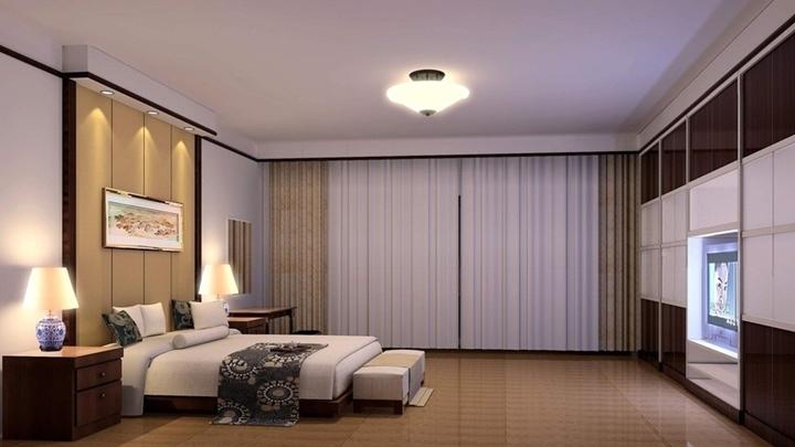 iluminar un dormitorio acogedor