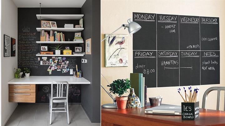 Ideas para utilizar pintura de pizarra en el hogar - Pintura pared pizarra ...