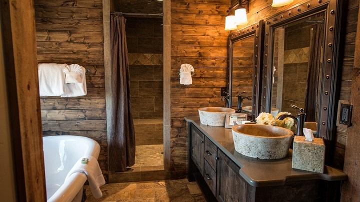 Cuartos De Baño Estilo Rustico:Cuartos de baño de estilo rústico