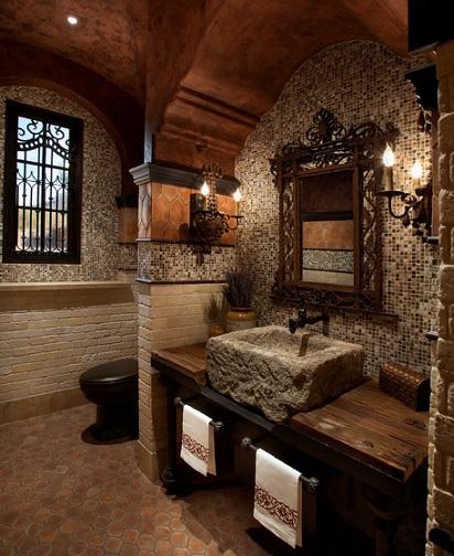 Decoracion de interiores ba os rusticos - Cuarto bano rustico ...