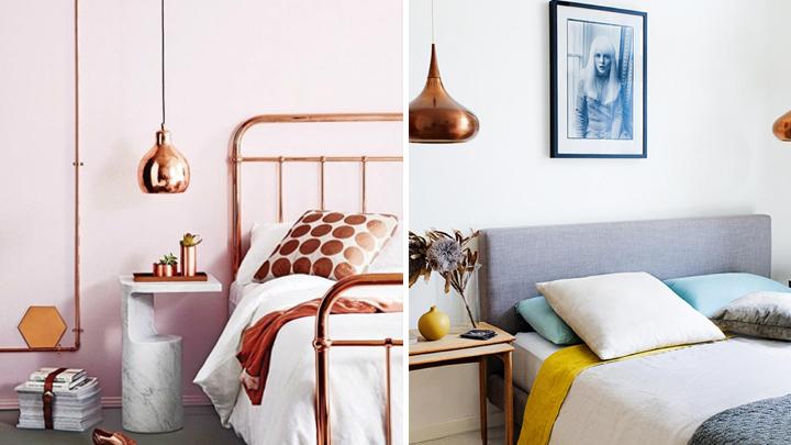 casa decorada con detalles en cobre
