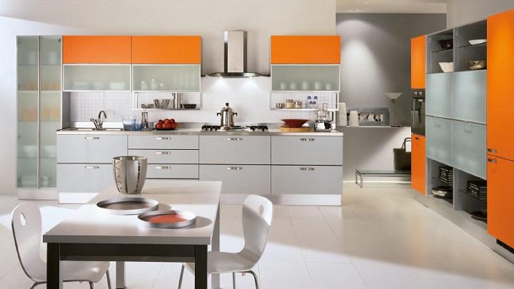 cocina naranja foto