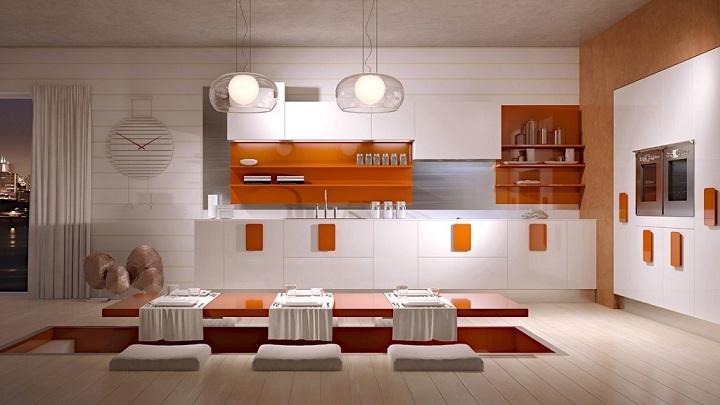 cocina naranja foto3