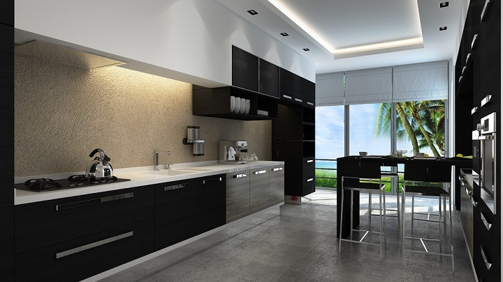 Fotos de cocinas de color negro for Iluminacion cocina ikea
