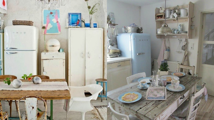 Ideas para decorar una cocina con estilo vintage for Ideas decorar pared cocina
