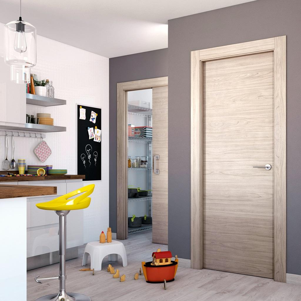 Puerta corredera para cocina great cocina puertas for Puertas para cocina
