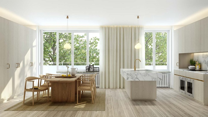 Tendencias de decoraci n de comedores 2016 for Cortinas comedor 2016