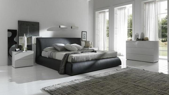 dormitorio gris foto