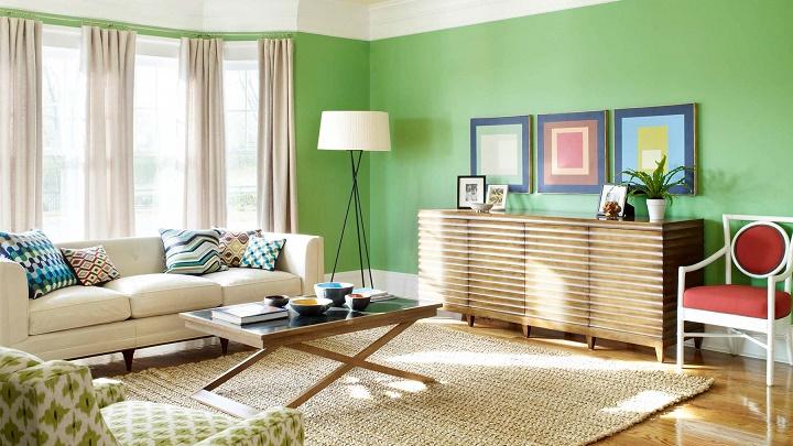habitacion verde