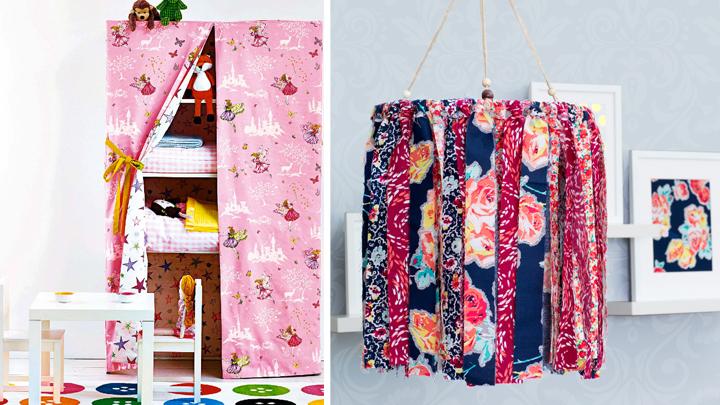Ideas para decorar muebles con telas for Ideas para cubrir paredes
