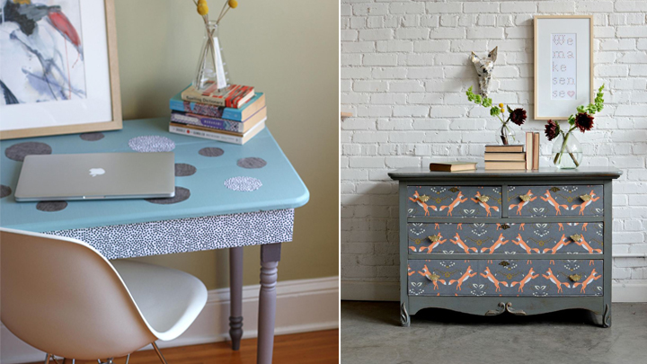 Ideas para decorar muebles con telas - Decorar reciclando muebles ...