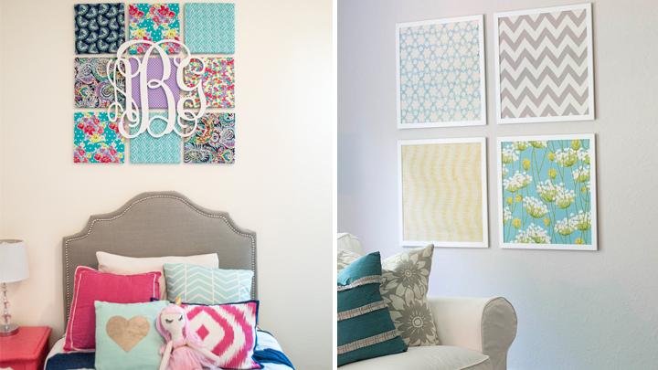 Decorar pared con tela consejos para decorar tus paredes sin cuadros como decorar una boda - Telas para decorar paredes ...