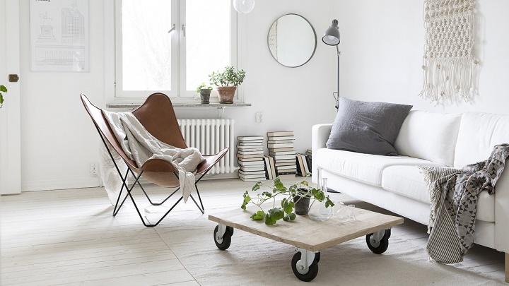 Salon en blanco for Imagenes de salones decorados