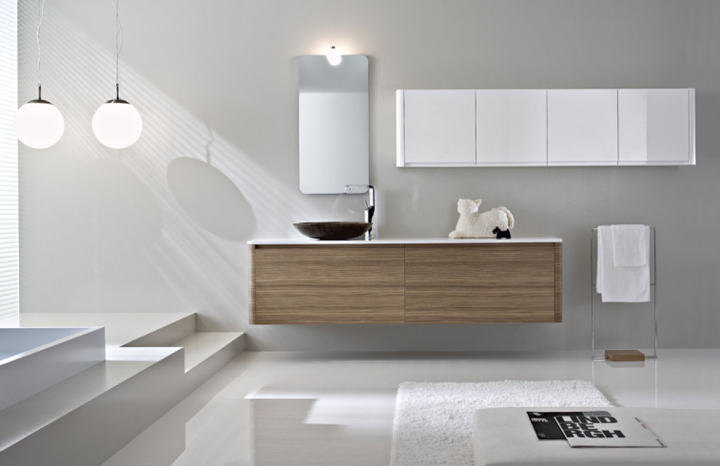 Bano blanco9 Cool bathroom lighting ideas